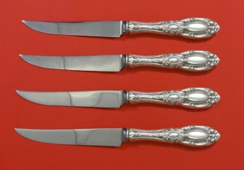 King Richard by Towle Sterling Silver Steak Knife Set 4pc Serrated Custom 8 1/2""