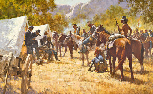"""Howard Terpning """"Major North and the Pawnee Battalion"""" CNVS S/Nw/COA"""