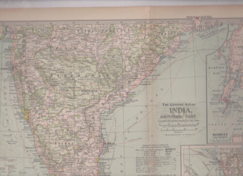 India Southern Part 1897 Map   Century Atlas #105