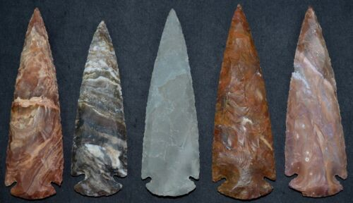 "*** 5"" Flint Spearhead Arrowhead OH Collection Project Point Knife Blade ***"