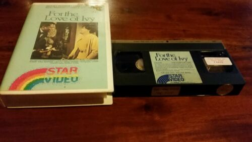 FOR THE LOVE OF IVY - SIDNEY POITIER  -  VHS RARE STAR VIDEO TAPE