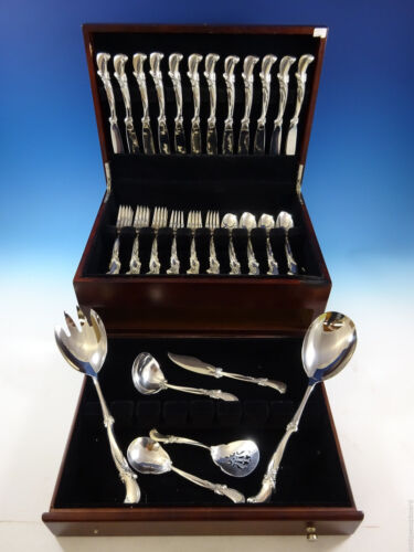 Waltz of Spring by Wallace Sterling Silver Flatware Service For 12 Set 54 Pieces