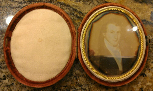 DAGUERREOTYPE POSSIBLY AFTER A PAINTING HANDSOME YOUNG MAN VICTORIAN PHOTO WOW