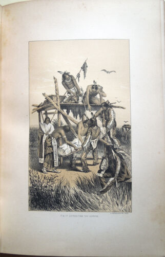 1881 – FIRST ANNUAL REPORT OF THE BUREAU OF ETHNOLOGY – INDIANI AMERICAN INDIANS