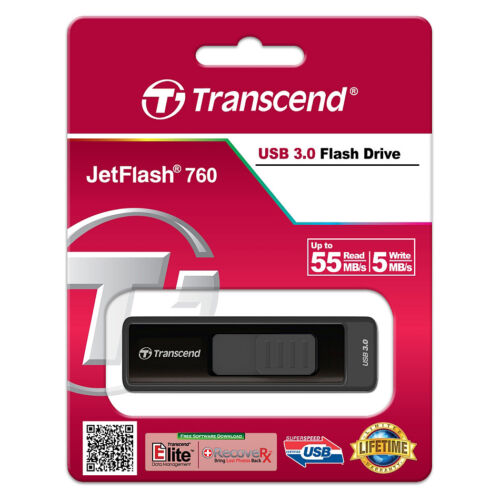 Transcend JetFlash 760 4GB/8GB/16GB/32GB/64GB/128GB USB 3.0 Flash Memory Drive