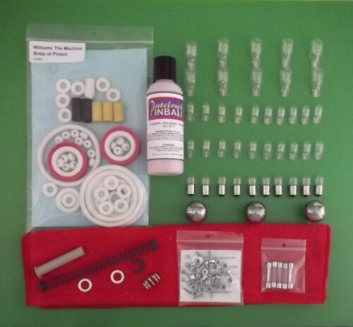1991 Williams The Machine Includes Ring Kit Bride of Pin-Bot Tune-up Kit