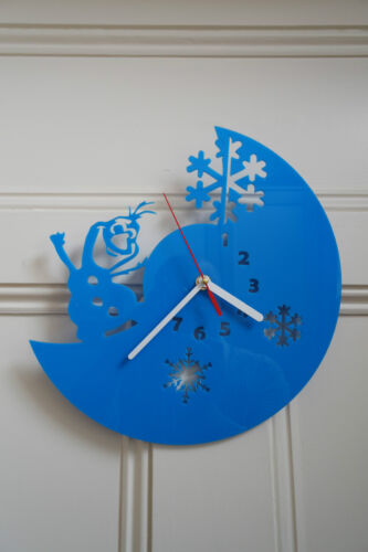 Frozen design wall clock, made from Blue plexiglass [*L-1]