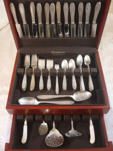 Wedgwood by International Sterling Silver Flatware Service for 12 Set 91 Pieces