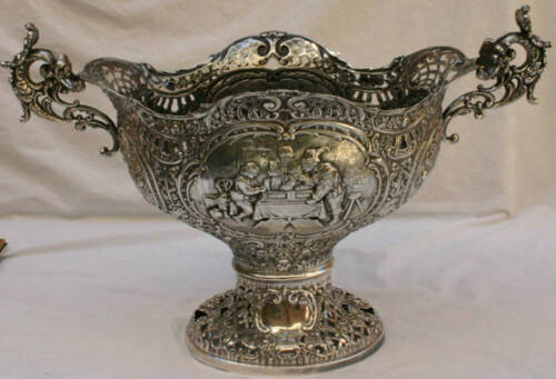 """MAGNIFICENT LARGE  19 C GERMAN SILVER  CENTER PIECE """" MUST SEE """""""