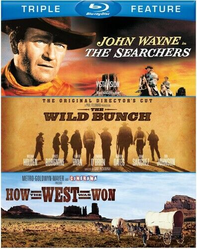 Searchers/The Wild Bunch/How the West Was Won [3 Discs] (2012, Blu-ray NEW)