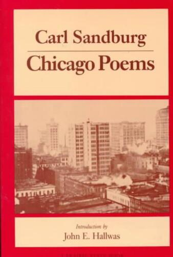 Chicago Poems by Carl Sandburg (English) Paperback Book Free Shipping!