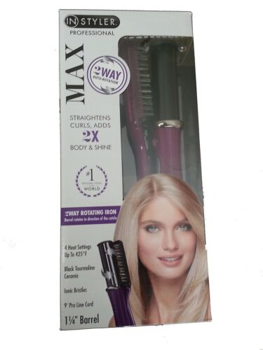*NEW* InStyler Max 2-Way Rotating Iron Straightens Curls & Shine 1 1/4 Barrel