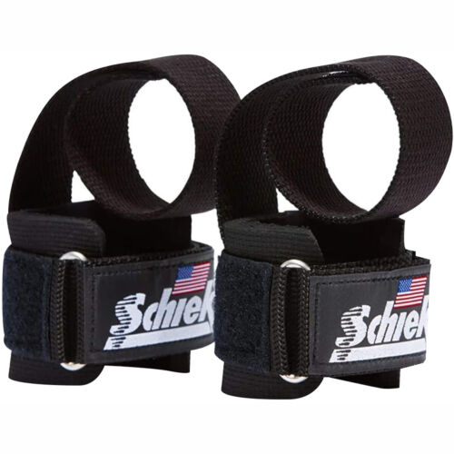 Schiek Sports Model 1000-PLS Deluxe Power Lifting Straps - Black