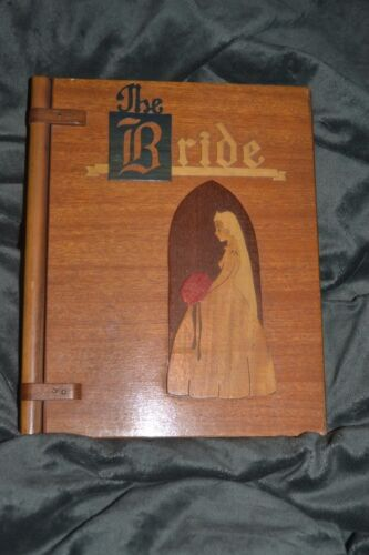 RARE 1900s ARTS and CRAFTS inlaid wood BRIDE book PASADENA Wood and METALCraft