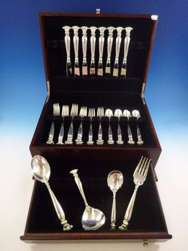 Romance of the Sea by Wallace Sterling Silver Flatware Set Service 36 Pcs