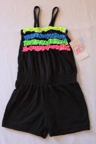 NEW Baby Girls Romper 12 Months Black Ruffles Sleeveless Shorts Outfit Jumpsuit