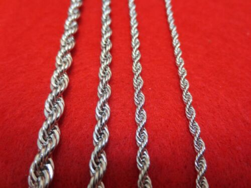 """16""""-30"""" 2.5/3/4/5mm SILVER STAINLESS STEEL ROPE CHAIN NECKLACE USA SELLER"""