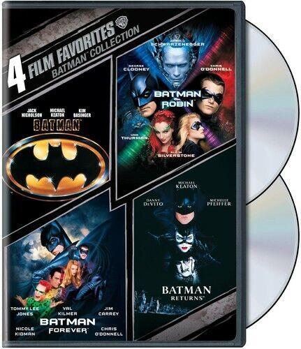 Batman Collection: 4 Film Favorites [2 Discs] (2009, DVD NEW)