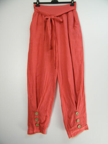 LAGENLOOK 100% LINEN ITALIAN TROUSERS IN 10 COLOURS M12/14, L14/16, XL16/18