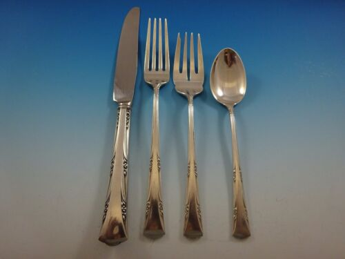 Greenbrier by Gorham Sterling Silver Flatware Service For 6 Set 27 Pieces