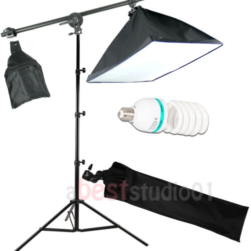 675W Photography Studio Softbox Continuous Soft Box Lighting Boom Arm Stand Kit