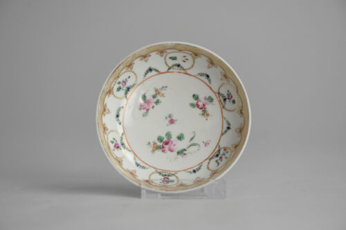 Perfect! Antique 18th Qianlong Qing Chinese Porcelain Saucer Famille Rose China