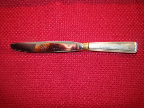 LUNT STERLING SILVER GOLDEN EMBASSY SCROLL MODERN KNIFE