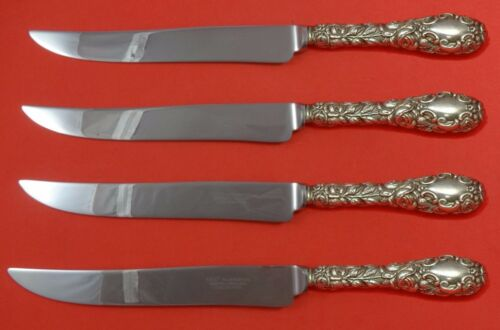 Baltimore Rose by Schofield Sterling Silver Steak Knife Set Texas Sized Custom