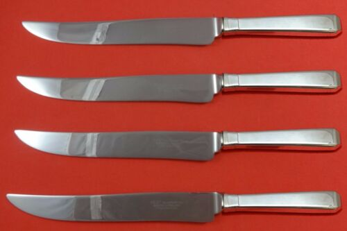 Craftsman by Towle Sterling Silver Steak Knife Set 4pc Large Texas Sized Custom