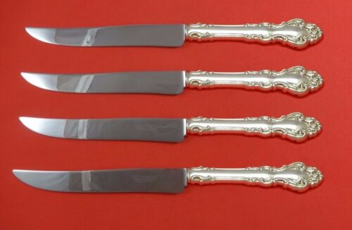 Spanish Baroque by Reed and Barton Sterling Steak Knife Set Texas Sized Custom