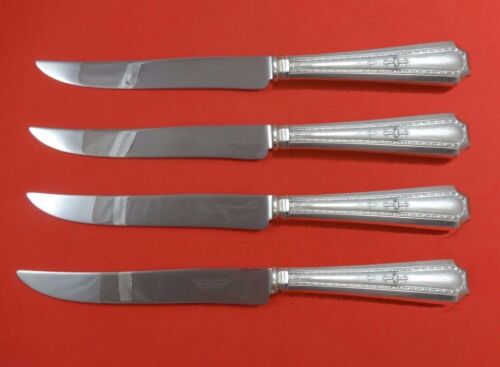 Colfax by Durgin-Gorham Sterling Silver Steak Knife Set 4pc Texas Sized Custom