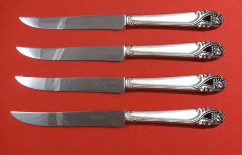 Spring Glory by International Sterling Silver Steak Knife Set Texas Sized Custom