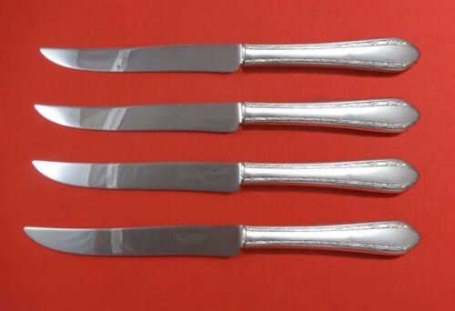 Wild Flower by Royal Crest Sterling Silver Steak Knife Set Texas Sized Custom