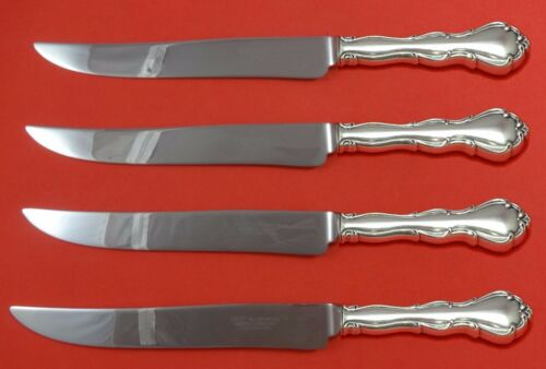 Fontana by Towle Sterling Silver Steak Knife Set 4pc Large Texas Sized Custom