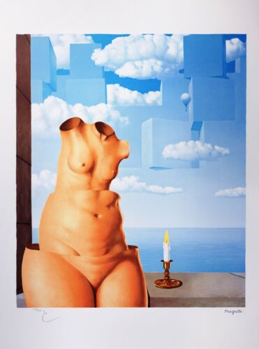 Rene Magritte - Megalomania (signed & numbered lithograph)