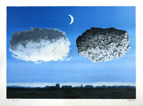 Rene Magritte - The Battle of the Argonne (signed & numbered lithograph)