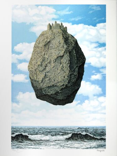 René Magritte - The Castle of the Pyrenees (signed & numbered lithograph)