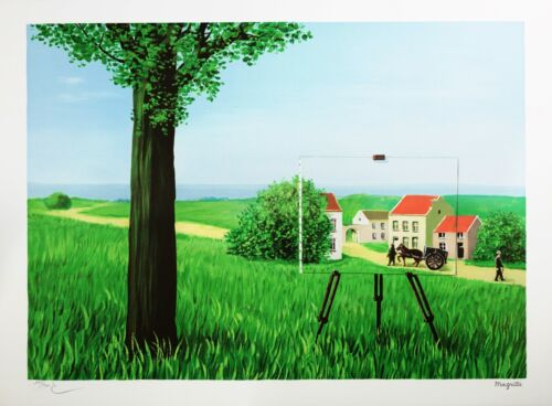 Rene Magritte - The Fair Captive (signed & numbered lithograph)