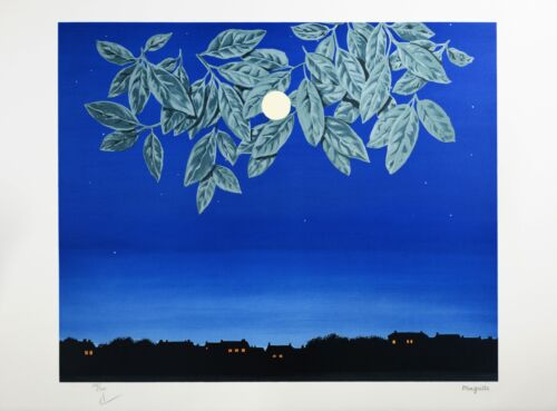 Rene Magritte - The White Page (color lithograph, plate-signed & numbered)