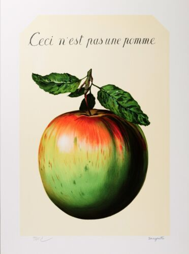 Rene Magritte - This is not an apple (signed & numbered lithograph)