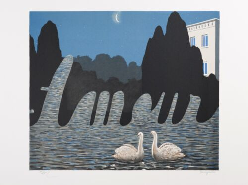 René Magritte - The Art of Conversation (signed & numbered lithograph)