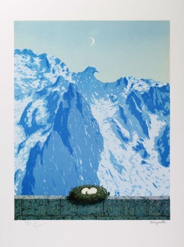 Rene Magritte - The Domain of Arnheim (signed & numbered lithograph)