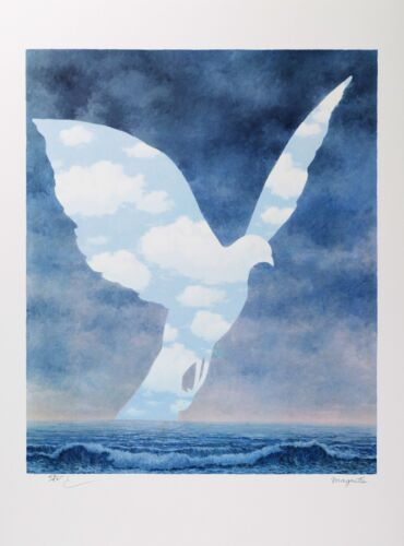 Rene Magritte - The Large Family (signed & numbered lithograph)