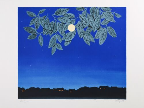 Rene Magritte - The White Page (signed & numbered lithograph)