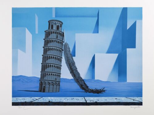Rene Magritte - Night in Pisa (signed & numbered lithograph)