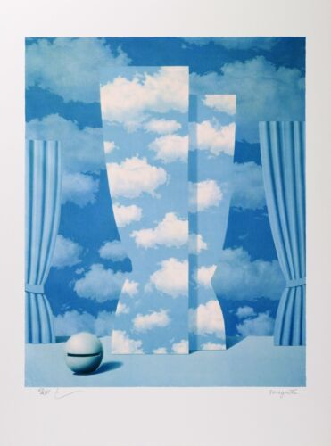 Rene Magritte - The Wasted Effort (color lithograph, plate-signed & numbered)