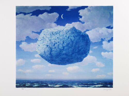 Rene Magritte - Zeno's Arrow (color lithograph, plate-signed & numbered)