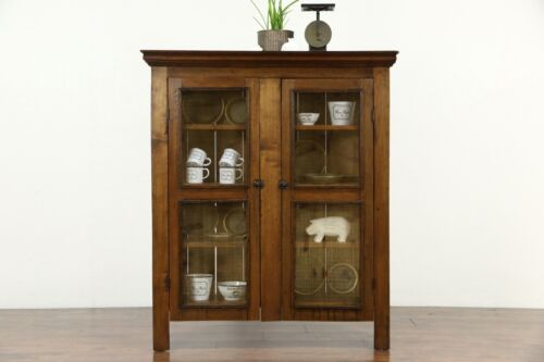 Country Pine & Butternut Antique Pantry Pie Safe Cupboard