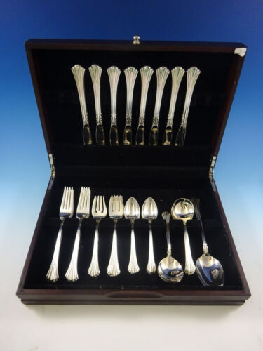 Eighteenth Century Reed and Barton Sterling Silver Flatware Set Service 41 Pcs