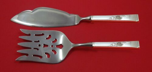 Classic Rose by Reed and Barton Sterling Silver Fish Serving Set 2 Piece Custom